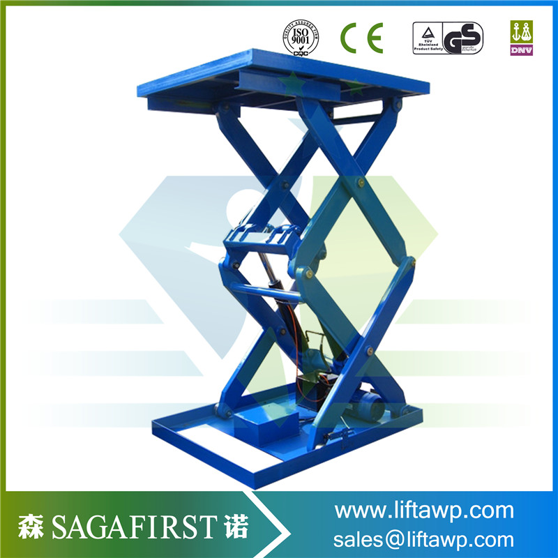Factory And Warehouse Use Blue Scissor Lift Table For Price