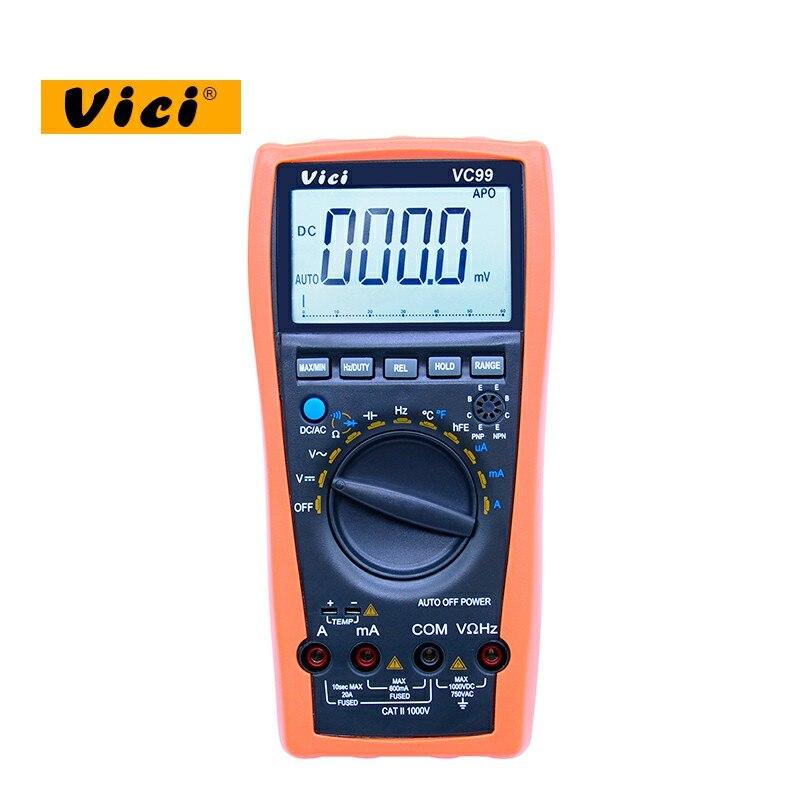 VICI VC99 3 6/7 Auto gamme multimètre numérique 1000 v 20A DC AC tension courant Résistance Capacité testeur