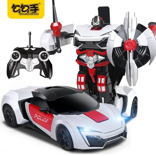 Gougoushou Kids 2 In 1 Transformation Sports Car Remote Control
