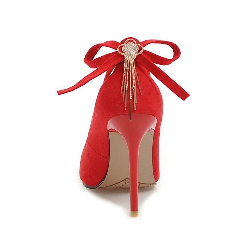 Parti De gris Des jaune Karinluna Ins Style Neuf Talons vert Grande 46 Stiletto Chaussures Classiques Hauts Taille Sexy 2019 rouge Femmes Noir Mince Flambant RRn7Uq
