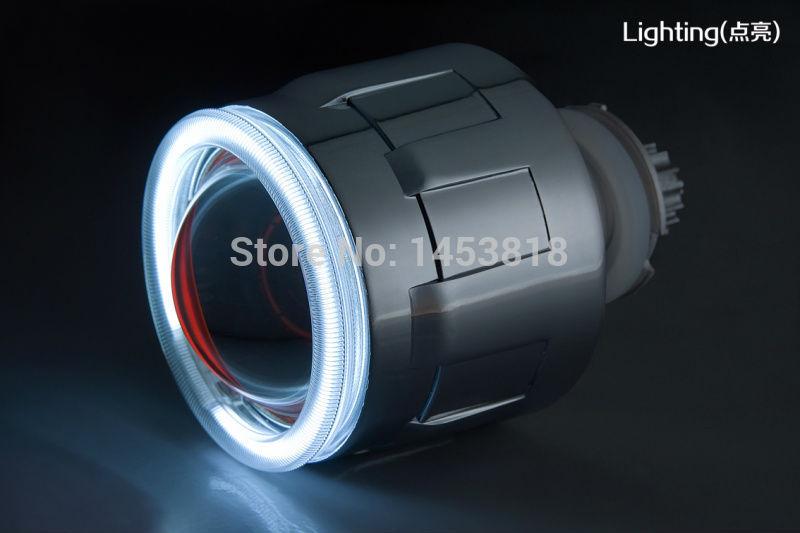 Круговой 3GQL 35 Вт 3 ''дюймовый объектив ксенона спрятал Ангел глаз лампа для H4 H1 H7 H11 HB3 HB4 9004 9007 4300 К 5000 К 6000 К 8000 К