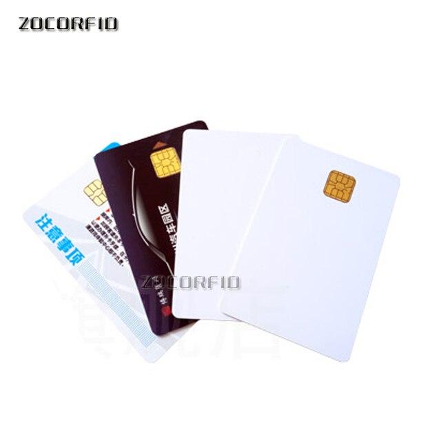 100pcs/lot SLE5528/SLE4428 con hi-co hico banda magnetica compatibile SLE4428 ISO 7816 smartcard sicuro blank smart IC card 4