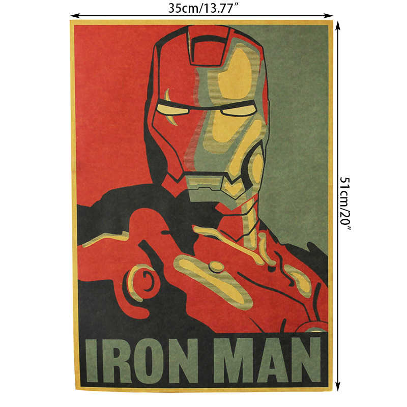 Vintage Poster Cartoon Posters Hollywood Retro Kraft Paper Adornment Movie Posters College Student Printing Posters Wall Sticker