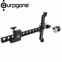 Ourpgone Compound Bow Sights Aluminum 1 Pin Bow Sights Black Bow Accessories for Shooting