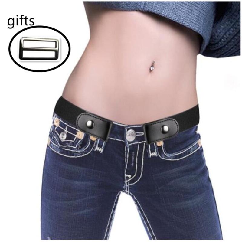 Buckle-Free Elastic Belt For Jean Pants Dresses No Buckle Stretch Waist Belts Fit Fashion Women Men Boys Girls Drop Shipping2019
