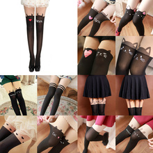 New Sexy Girl's Pantyhose Design Pattern Printed Tattoo Stockings Cat shape 4 Style Sheer Pantyhose Mock Stockings Tights все цены