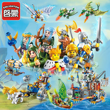 ENLIGHTEN 2301-2316 Битва славы 3D DIY Birthday Christmas Gifts Legoings игрушки для детей образовательные строительные блоки