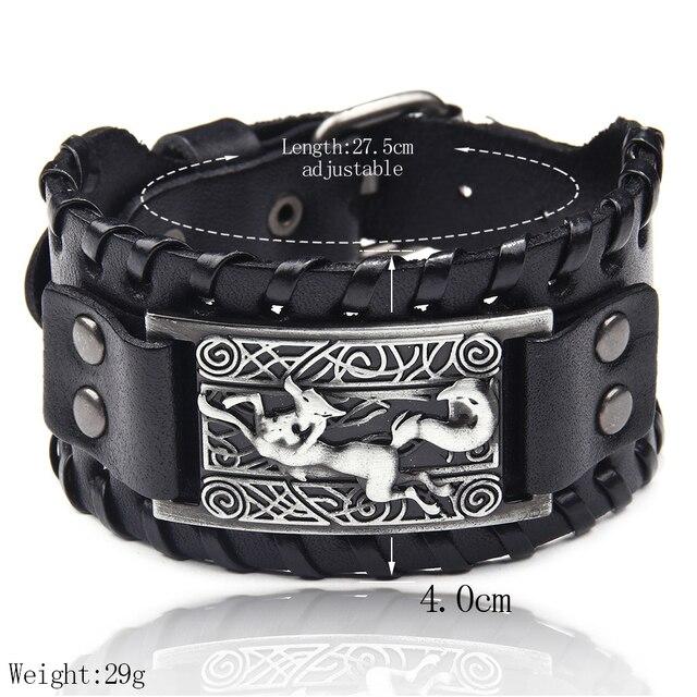 Bracelet en cuir tressé Viking 4