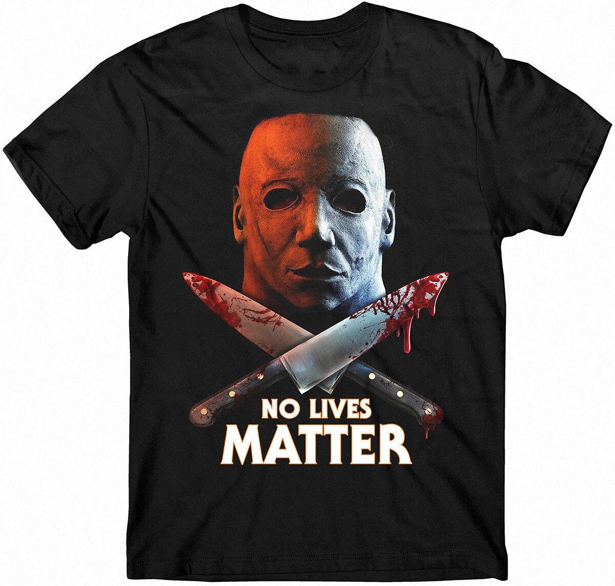 Halloween t-shirt, Michael Myers t-shirt, Knives t-shirt, No Lives Matter, Movie 2018 Summer MenS Brand Clothing O-Neck