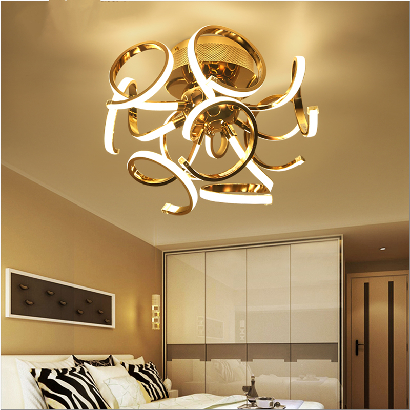 Simple creative personality led post modern luxury art ball chandelier bedroom study room restaurant lamps