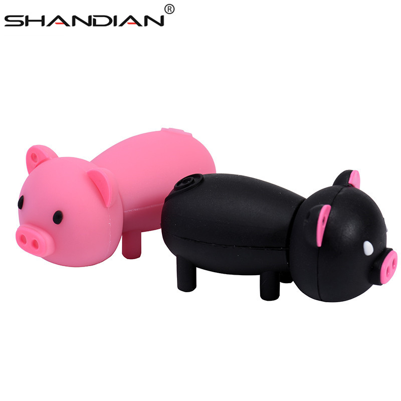Image 4 - SHANDIAN Pen Drive Cartoon Pink Pig Pendrive 4GB 8GB 16GB 32GB 64GB Usb Flash Drive USB 2.0 Flash Memory Stick Disk on key Gift-in USB Flash Drives from Computer & Office
