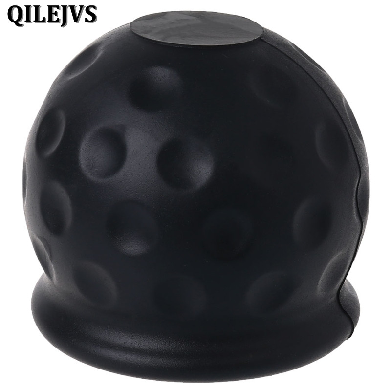 QILEJVS Universal 50mm Tow Bar Ball Cover Cap Towing Hitch Caravan Trailer Towball Protect ...