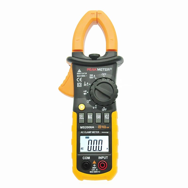 Auto Meter Clamp : Peakmeter ms a digital clamp meters auto range