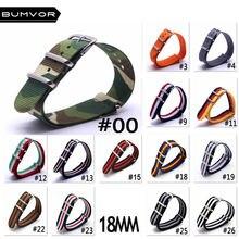 Ремешок в стиле НАТО для часов армейский нейлоновый браслет