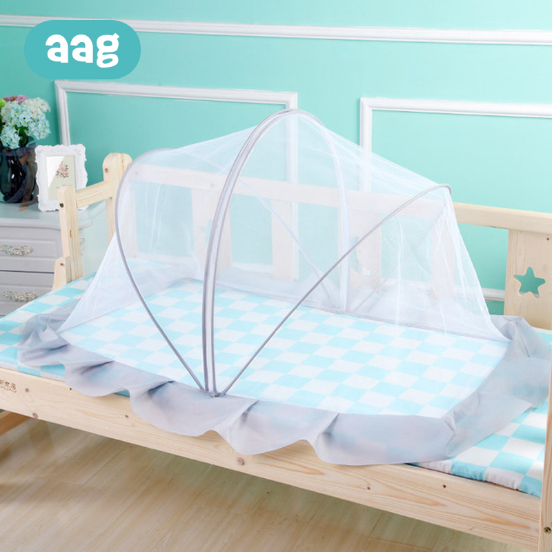 AAG Baby Portable Folding Mosquito Net Newborn Child Crib Blocking light Infant Bed Mosquito Net Yurt Anti mosquito Insect Mesh in Crib Netting from Mother Kids