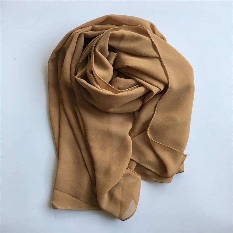 50pcs Plain Solid Scarf Muslim hijab islamic women hijab Muslim hijab bubble chiffon scarf hijabs chiffon shawls plain scarves