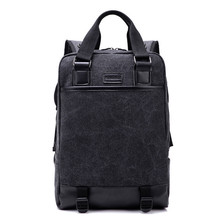 2017 New Brand Vintage backpack PU leather Large Capacity men Male Luggage bag canvas travel bags Top quality mochila masculina