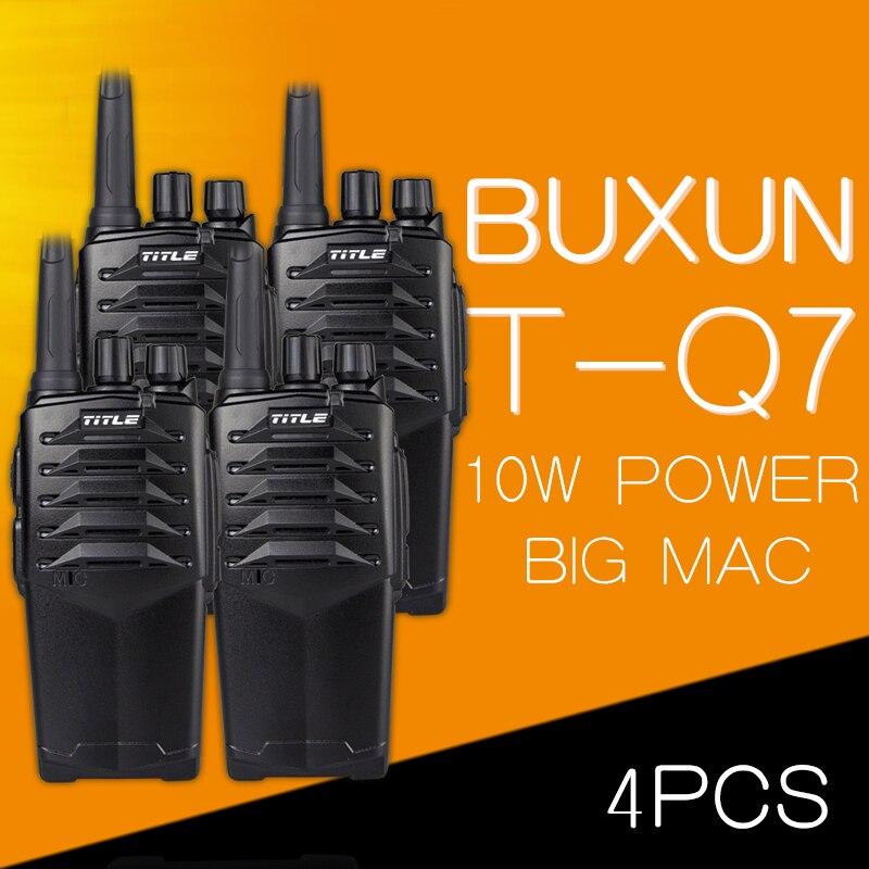 (4 piezas) dos Vías de radio KSUN T-Q7 caer el hotel impermeable camino tres 10 W potencia pruebas walkie talkie