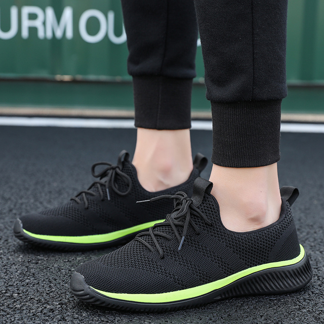 a7c0f4492720 Sneakers Men 2019 New Fashion Summer Air Mesh Breathable Light Weight  Sports Shoes Comfortable Outdoor Running Shoes For Men