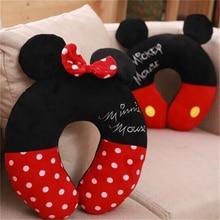 Disney Микки и Минни Маус Мышь Kawaii Мультфильм u-образная подушка для шеи офис обеденный перерыв портативный Подушка обувь для мужчин и женщин Подарки на день рождения