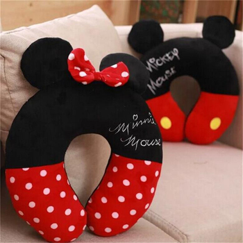 Disney Mickey Minnie Mouse Kawaii Cartoon w kształcie litery U poduszka pod kark biuro przerwa obiadowa przenośna poduszka mężczyźni i prezenty urodzinowe dla kobiet tanie i dobre opinie Pościel BODY Dekoracyjne Masaż Podróży 300tc Patchwork Plaid Stałe GEOMETRIC Paisley latex Other Pamięci MAGNETIC