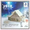 Assembled wooden fairy tale building model----Aisha Lodge