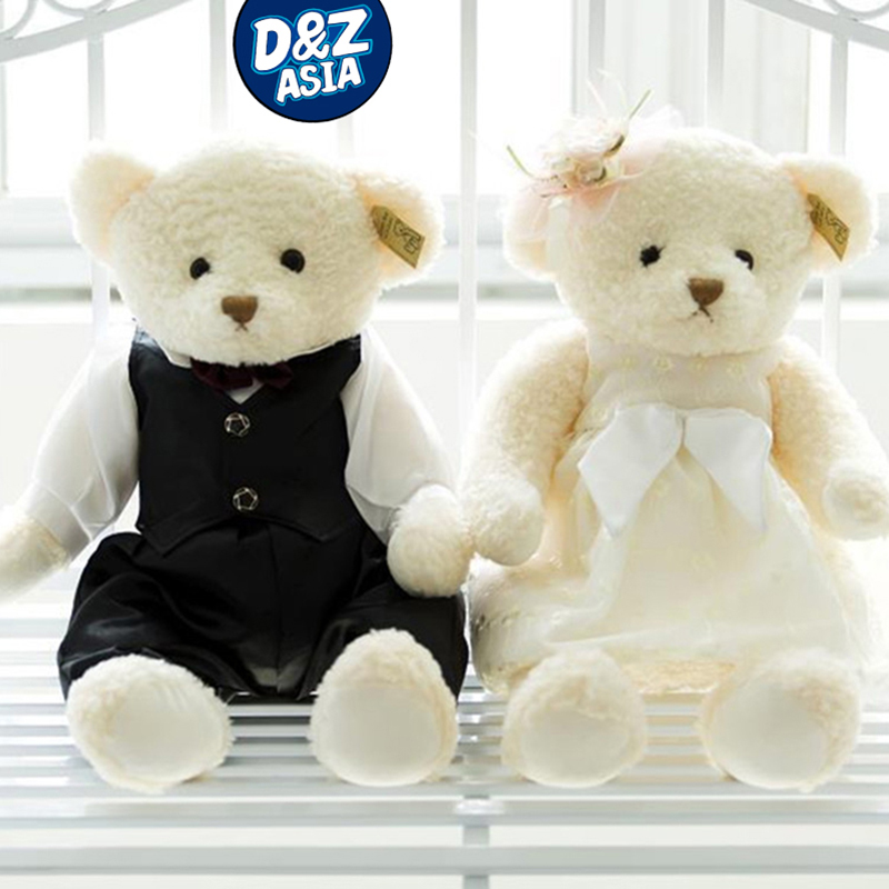 ФОТО new wedding couples teddy bear doll bride and groom wedding gift for wedding press lovely doll