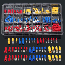цены 120pcs/lot New Insulated Electrical Crimp Connector Wire Terminals Assorted Kit 22-10AWG Red Blue Yellow For Cars Accessories