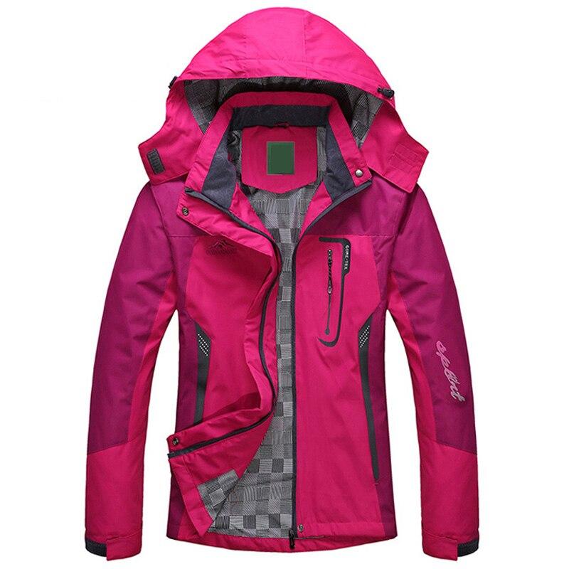 2017 Spring Autumn Winter Women Jacket Single thick outwear Jackets Hooded Wind waterproof Female Coat parkas Clothing