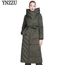 2018 New Winter Jackets Women Elegant Solid Long Slim Duck Down Jacket Thickening Hooded Female Snow Overcoat Plus Size AO568 стоимость