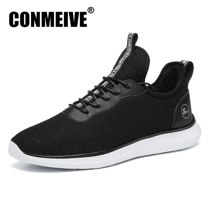 Fashion Breathable Designer Male Adult Sneakers Winter Casual Mens Shoes Lace-up Man Trainers Brand Luxury Shoes Men Black 9