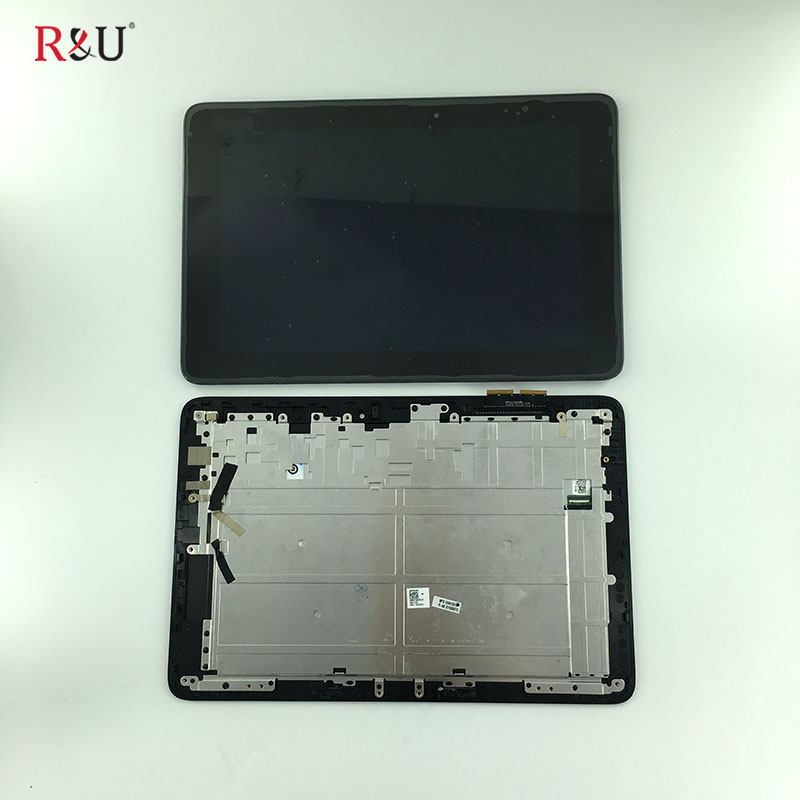 R&U 10.1'' Touch Screen Digitizer +LCD Display panel Glass Assembly with frame Replacement Parts For Asus T100H T100HA X5-Z8500  vernee apollo x lcd display touch screen digitizer frame assembly 100