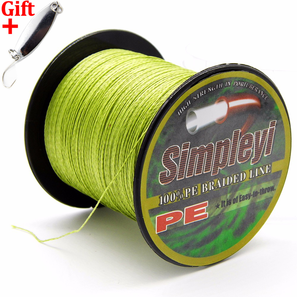Simpleyi Lure As Gift 300M 10 Colors PE Braided Fishing Line 4 Strands 6 - 100 LB Pesca Wire Fly Ice Carp simpleyi lure as gift 1000m 8 stands x8 multifilament pe braided fishing line tackle 10lb 80lb 90lb 100lb 120lb to 300lb wire