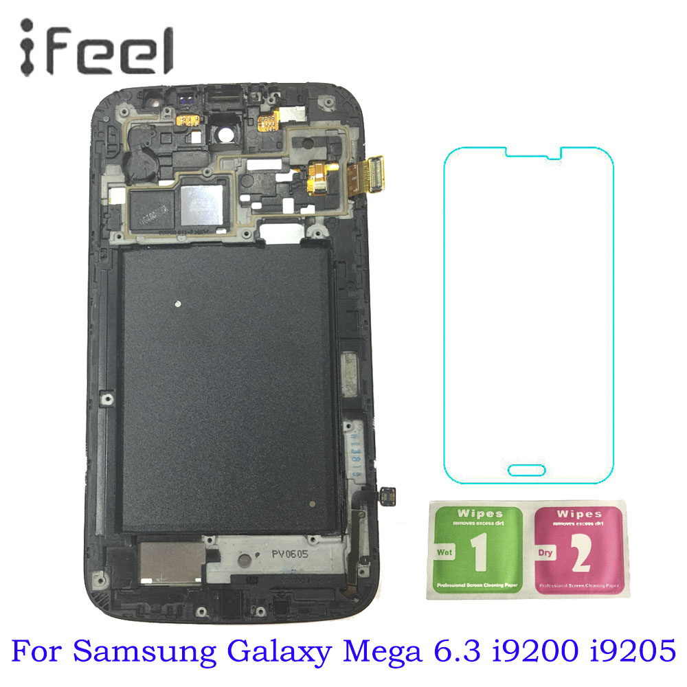 Super AMOLED Display For Samsung Galaxy Mega 6.3 i9200 i9205 LCD Touch Screen Assembly With Frame 100% Tested Working LCDSuper AMOLED Display For Samsung Galaxy Mega 6.3 i9200 i9205 LCD Touch Screen Assembly With Frame 100% Tested Working LCD
