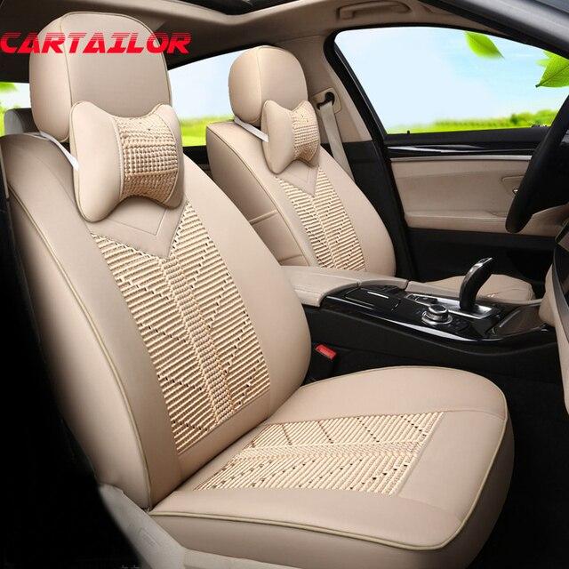 CARTAILOR PU Leather Car Seat Cover Set For Kia Sorento 2015 2014 2013 Covers Cars