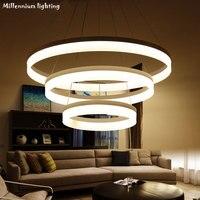 Modern LED Chandelier Ceiling Restaurant 30cm45cm60cm 98W Dimmable Light Indoor Acrylic Chandelier Living Room Bedroom Fixtures