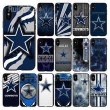 цена на Ruicaica Dallas Cowboys Soft Silicone black Phone Case for iPhone X XS MAX 6 6S 7 7plus 8 8Plus 5 5S XR