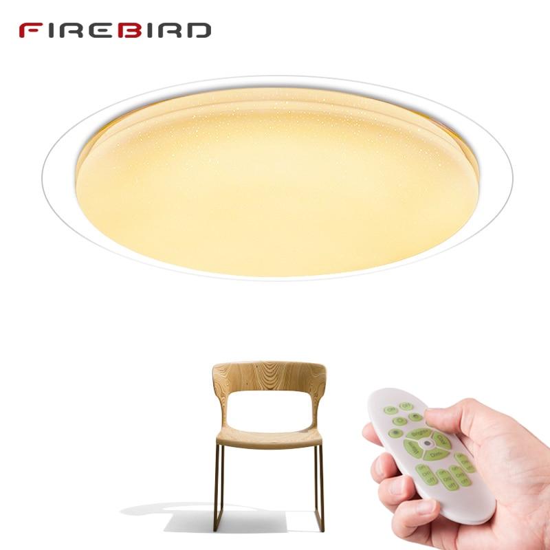 Σύγχρονη οροφή LED Φωτιστικά Τηλεχειριστήριο Dimmable 25W 400mm 60W 550mm Φωτιστικό Σαλόνι Καθιστικό Υπνοδωμάτιο Smart λαμπτήρας οροφής