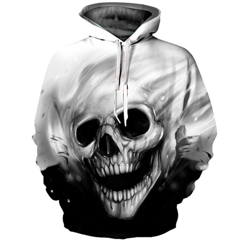 Skull Hoodie Hoodies Men Women Long Sleeve Autumn Winter Brand Hooded Sweatshirt Casual Pullover 3D Hoody Tops
