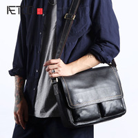 AETOO Original retro men's first layer of leather Messenger bag men's leather shoulder bag leather cross section casual clamshe