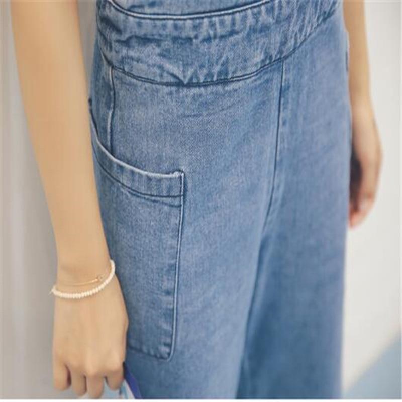 Donne Coreano Allentato Pantaloni Dimensioni Larghi Blue Combishort E Jqnzhnl Grandi Modo 2018 Del Tute New Salopette Jeans Punti Piedino Di Nove Ad184 Spring 8Wfztg0q