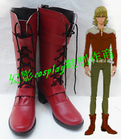 Tiger & Bunny Barnaby Brooks Red Halloween Long Cosplay Boots Shoes H016