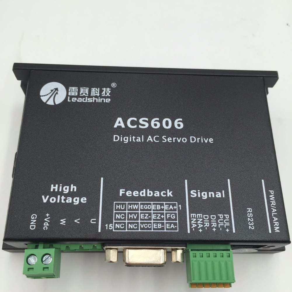 DSP Brushless Servo Drive ACS606 18-60VDC Leadshine Digital AC Servo Drive for 10-360w DC Brushless Servo Motors used 100% tested mcdht3520e ac servo drive mcdht3520e for pan servo driver mcdht3520e