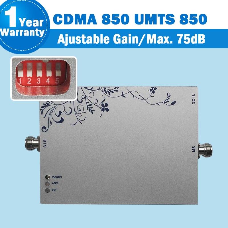 850 Lintratek CDMA Smart Phone Signal Repeater MGC Function Cellphone Booster GSM Amplifier Repetidor De Sinal Celular 850mhz 10