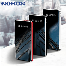 NOHON 2A Fast Charging 10000mAh Power Bank For 8pin Android Phone Universal Portable Mobile Power Supply With Dual USB LED Lamp tanie tanio Li-polymer Battery with Flashlight Digital Display Charger Battery in 1 Double USB for Smartphone CN(Origin) USB Type C