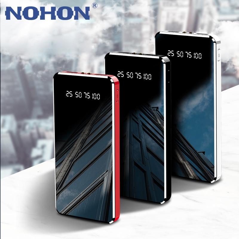Внешний аккумулятор NOHON на 2 а с 2-мя USB светодиодный Тами и светодиодной лампой, 10000 мАч