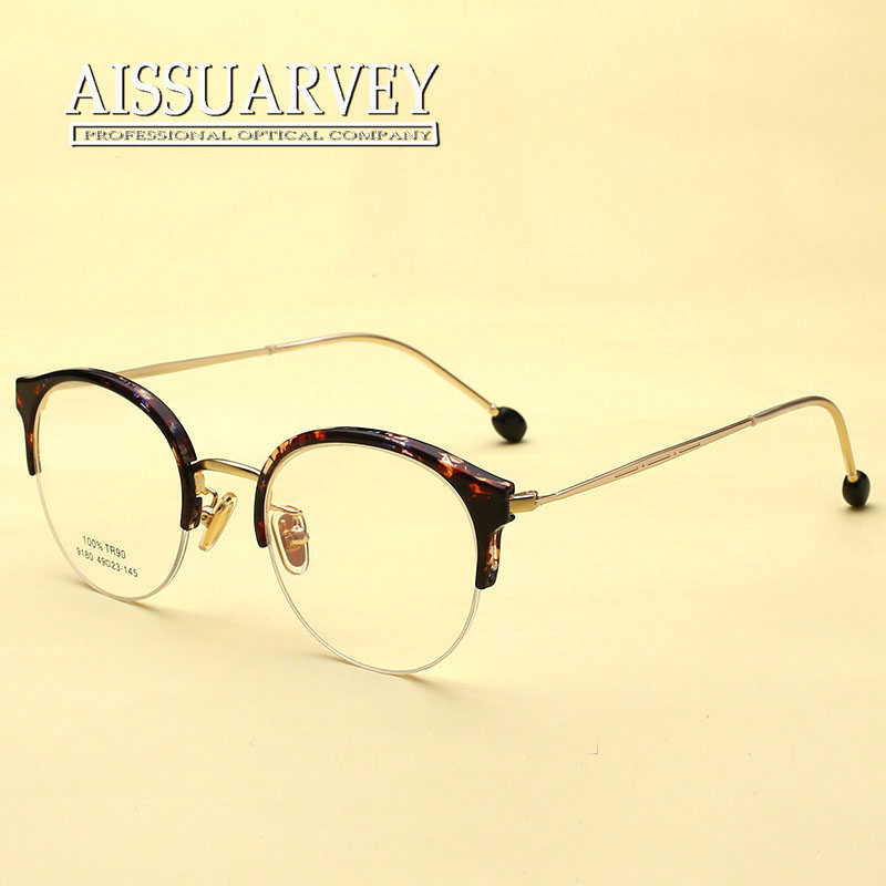 a91b93b8df5d5 Vintage Round Metal Eyeglasses Cat shape Optical Glasses Frame Prescription  Clear Lenses Small Classic Retro Goggles Reading-in Eyewear Frames from  Apparel ...