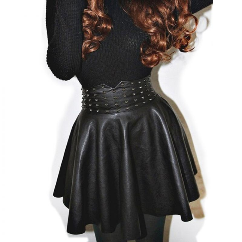 Compare Prices on Black Leather Skater Skirt- Online Shopping/Buy ...