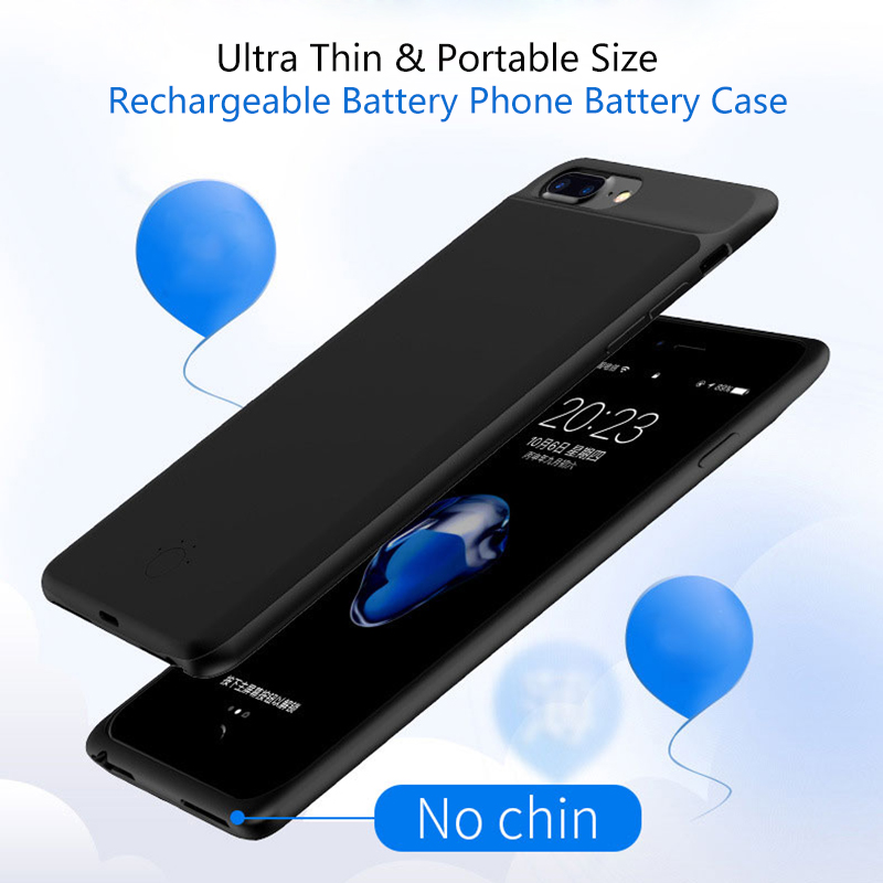 5000 mAh Ultra Silm Externo Caso Carregador de Bateria de Telefone Para o iphone 6 6 s 7 8 7000 mAh Da Bateria Do Telefone case Para iphone 5 6 6 s 7 8 Plus