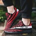Весна Пара Повседневная Обувь Мода 350 Дышащей Обуви Суперзвезда Летать переплетения обувь Кокосовые обувь Zapatos Hombre Sapato Feminino